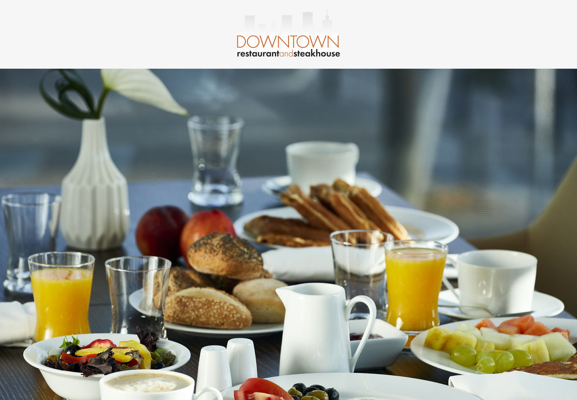 Breakfast buffet in DownTown Restaurant for one person